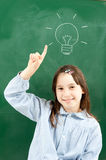 Girl with blackboard Royalty Free Stock Images