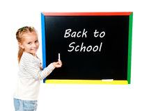 Girl with blackboard Royalty Free Stock Photos
