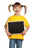 Girl with blackboard Royalty Free Stock Photo