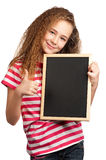 Girl with blackboard Royalty Free Stock Photography