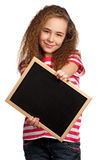 Girl with blackboard Stock Photo