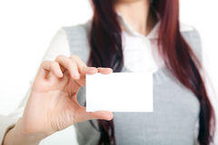 Girl blank card Stock Photography