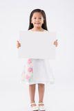 Girl with blank placard Stock Photography