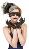 Girl blindfolded Royalty Free Stock Photos