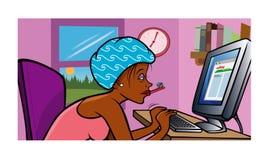 Girl blogging morning Royalty Free Stock Image