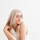 Girl with blond dyed hair Stock Image