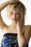 Girl blond hair Stock Photos