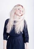 Girl with blond hair Stock Photos