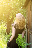 Girl with blond hair Royalty Free Stock Photos