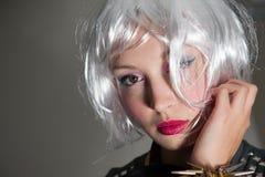 Girl with blonde bob hair Stock Photos