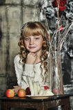 Girl with blonde curls Royalty Free Stock Photo