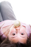 Girl Blowing Bubble Gum Royalty Free Stock Photos
