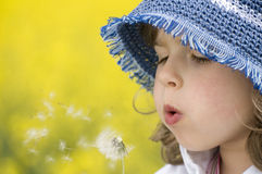 Free Girl Blowing Dandelion Royalty Free Stock Photos - 5153388