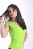 Girl Blowing kiss Stock Image