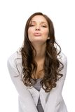 Girl blowing kiss Royalty Free Stock Photo