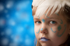 Girl with blue Royalty Free Stock Photography