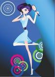 Girl blue Royalty Free Stock Image