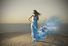 Girl in blue Royalty Free Stock Photography