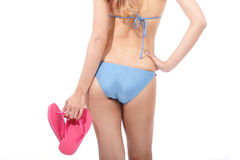 Girl in blue bikini Royalty Free Stock Photo