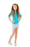 Girl in the blue blouse Royalty Free Stock Photography