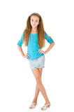 Girl in the blue blouse Royalty Free Stock Image