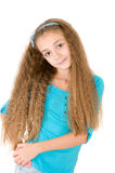 Girl in the blue blouse Stock Images