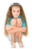 Girl in the blue blouse Stock Photos