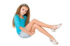 Girl in the blue blouse Stock Image