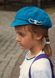 Girl in a blue cap Royalty Free Stock Photo
