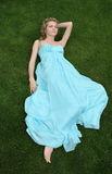 Girl in the blue dress Royalty Free Stock Photos
