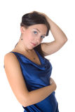 Girl in a blue dress Stock Photography