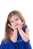 Girl in blue dress Royalty Free Stock Photography