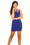 Girl in blue dress Stock Photography