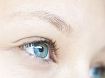 Girl blue eye. Close up on a girl blue eye Royalty Free Stock Image