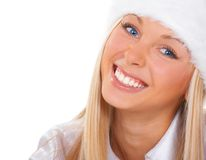 The girl with blue eyes. The girl with a beautiful smile and with blue eyes Royalty Free Stock Images