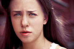 Girl with blue eyes Stock Images