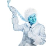 The girl with the blue face Royalty Free Stock Photo