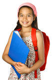 girl with blue folder Stock Image