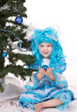 Girl with blue hair Royalty Free Stock Images