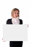 Girl with board Royalty Free Stock Images