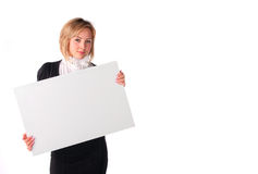 Girl with board Royalty Free Stock Photography