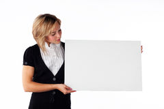 Girl with board Royalty Free Stock Photo