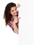 Girl with board Royalty Free Stock Image