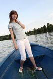 Girl on the boat Stock Photos