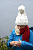 Girl with bobble hat Royalty Free Stock Photo