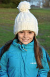 Girl with bobble hat Stock Photo