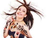 Girl with body art. Stock Photography