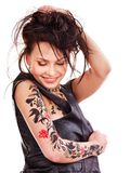 Girl with body art. Stock Images