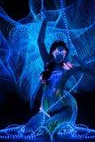 Girl with body art Stock Photos