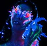Girl with body art Royalty Free Stock Photos